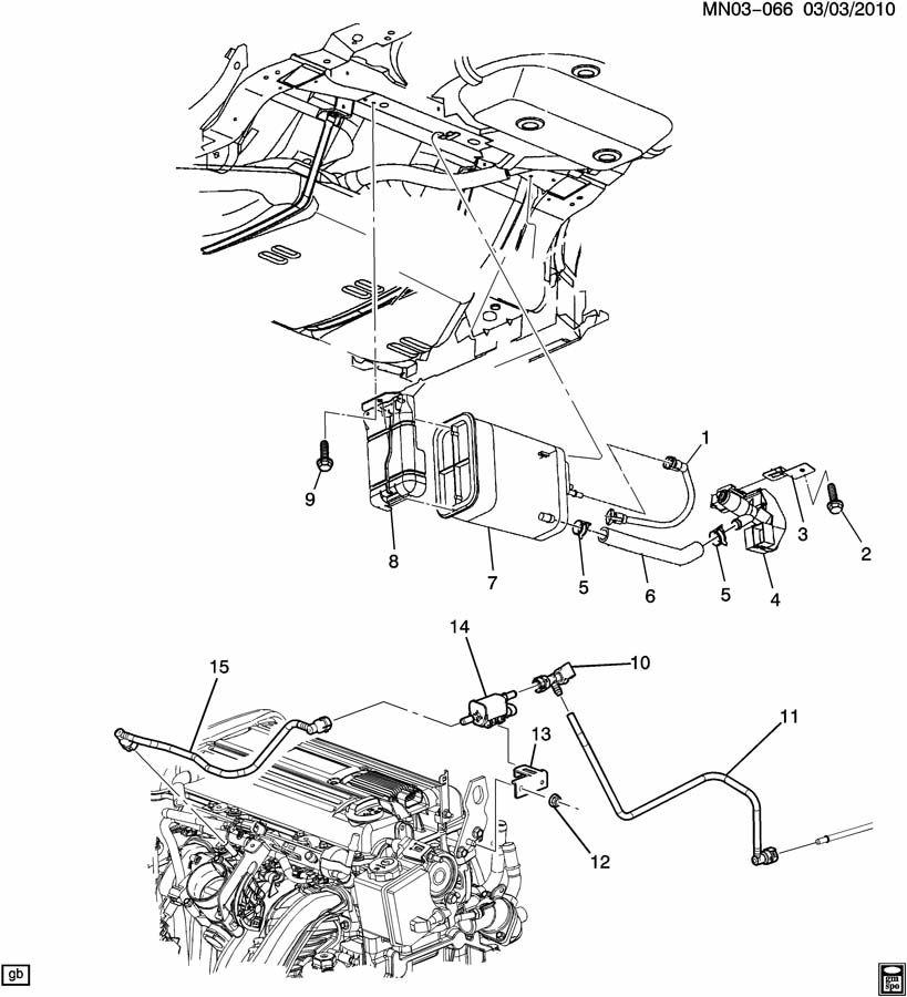 2002 Olds Alero Engine Diagram: 2002 Oldsmobile Alero VAPOR CANISTER & RELATED PARTS