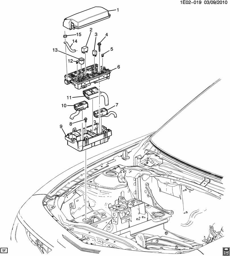 2011 chevrolet camaro ee ef es relays  u0026 modules  engine