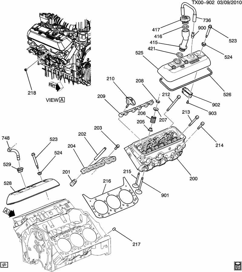 Engine Asm 4 3l V6 Part 2 Cylinder Head Amp Related Parts