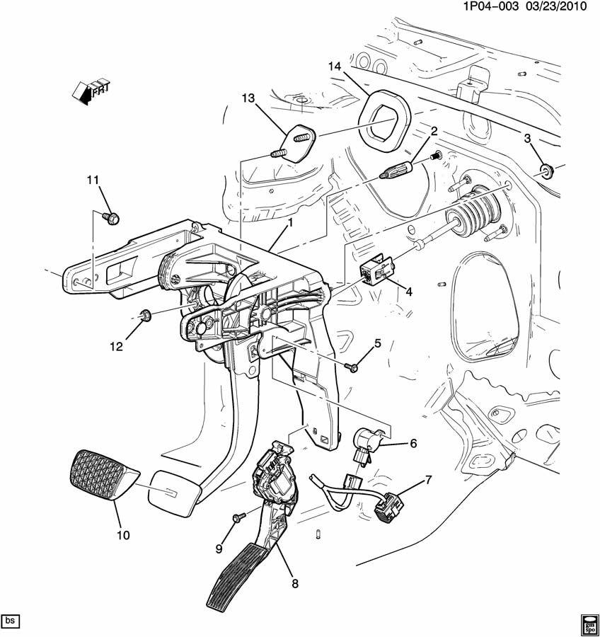 Chevrolet Cruze Pad  Brake  Clutch Pedal  Retainer  Brake