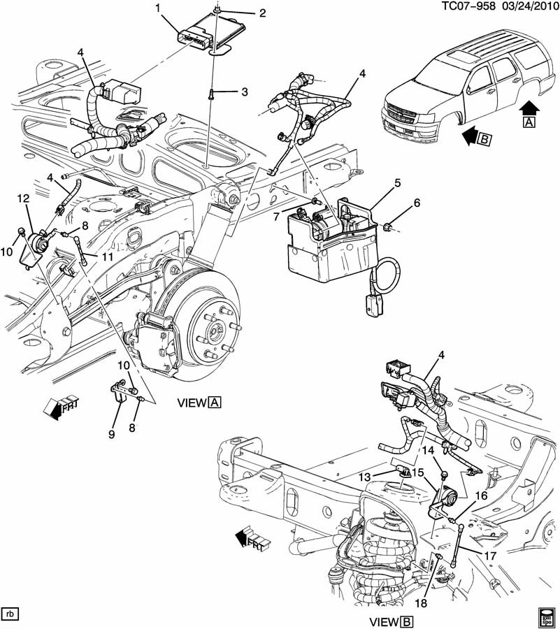 gmc yukon denali suspension controls  electronic