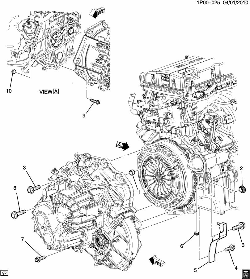 chevy cruze engine exploded diagram