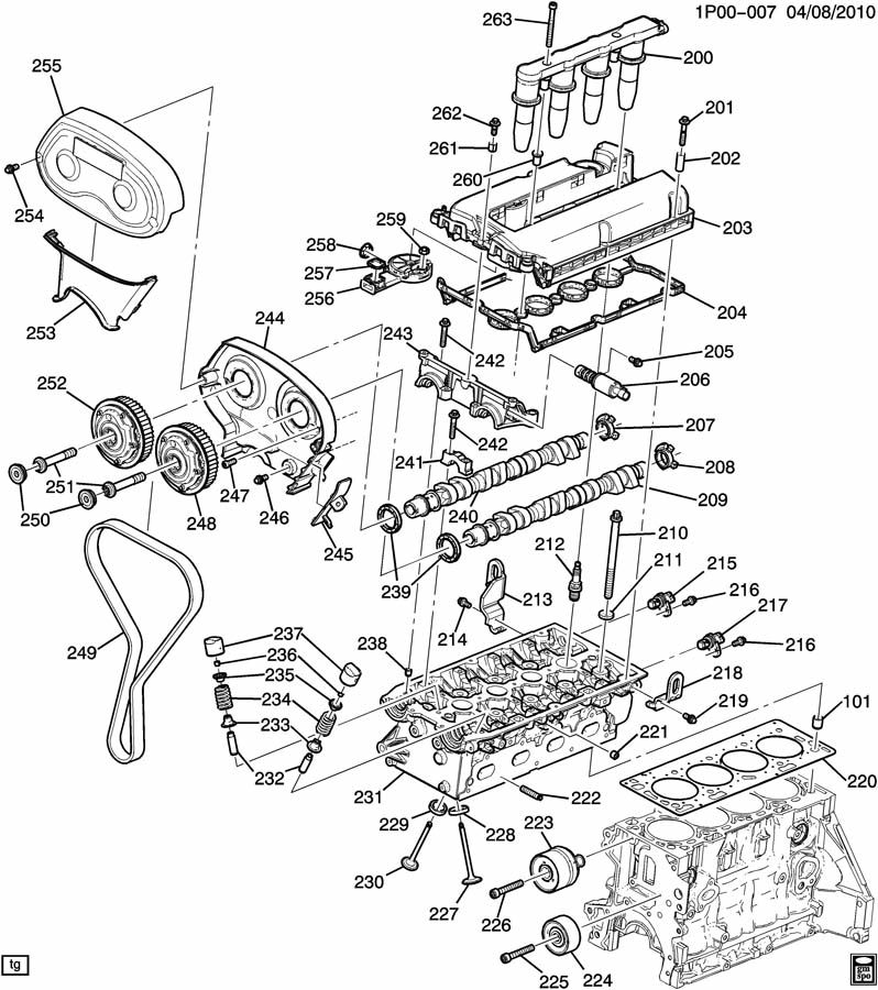 Gm 2 5 Engine Timing Cover Gm Free Engine Image For User