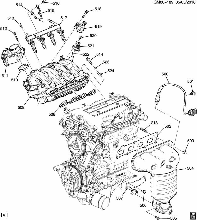 2012 Chevrolet Cruze Bolt  Intake  U0026 Exhaust Manifold  Bolt