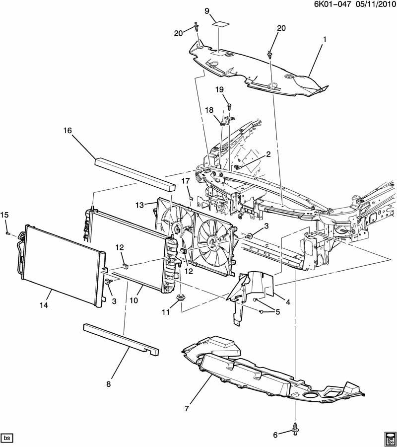 2007 Cadillac Dts Deflector  Radiator Air  Deflector  Frt