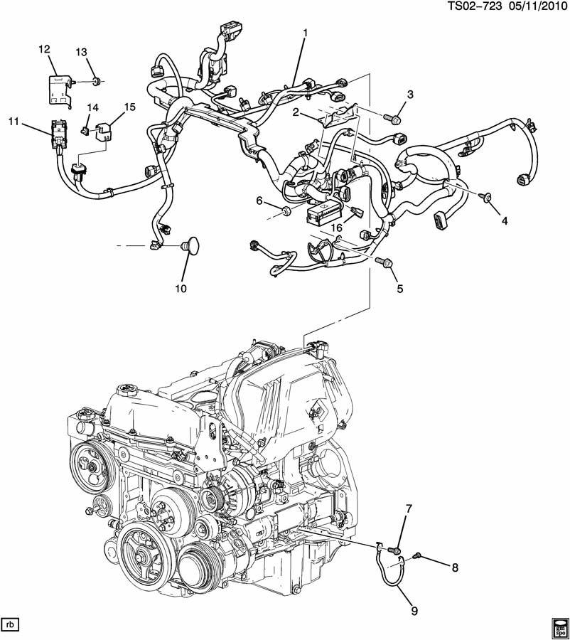 2011 Chevrolet Colorado Ext Cab Engine Wiring Harness  3 7