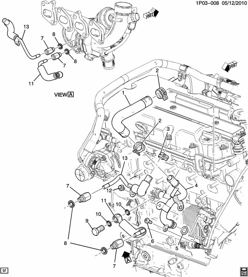 Chevrolet Cruze Pipe Turbocharger Supercharger Air Vac Manual Guide
