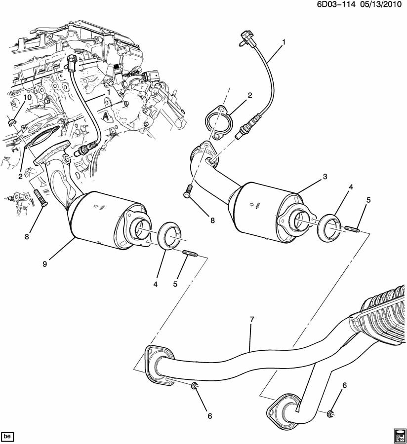 Cadillac CTS EXHAUST SYSTEM/FRONT