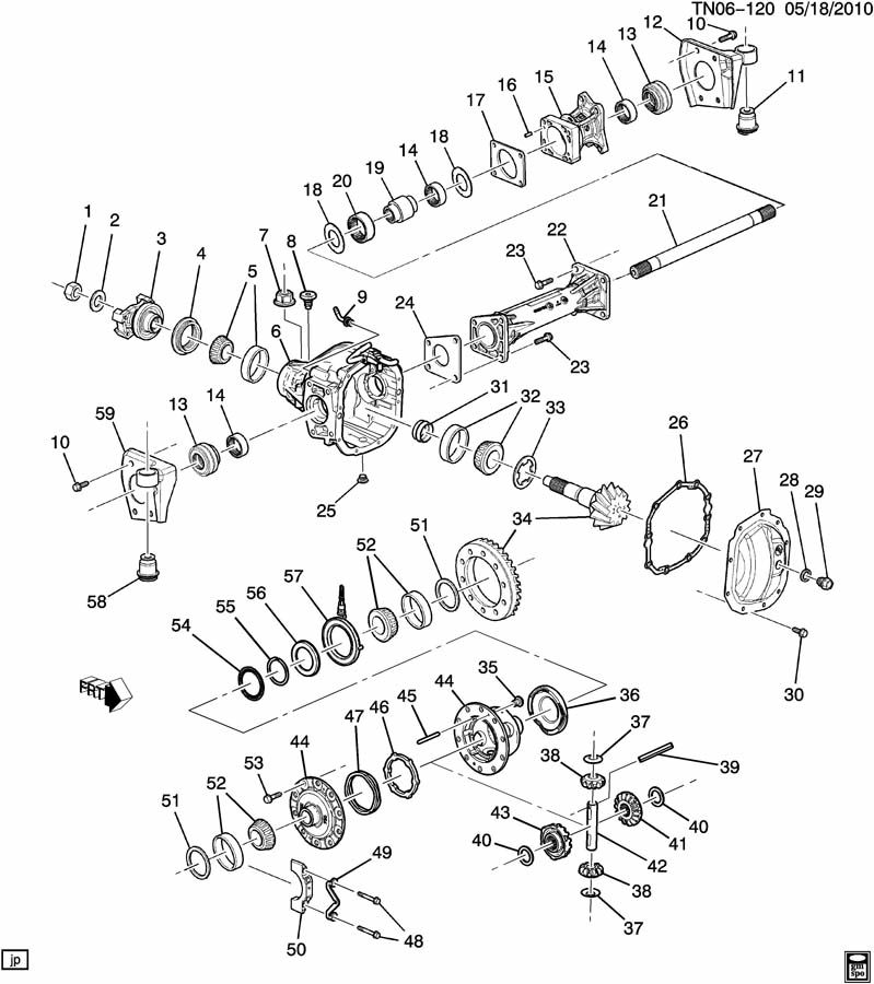 differential carrier  front axle