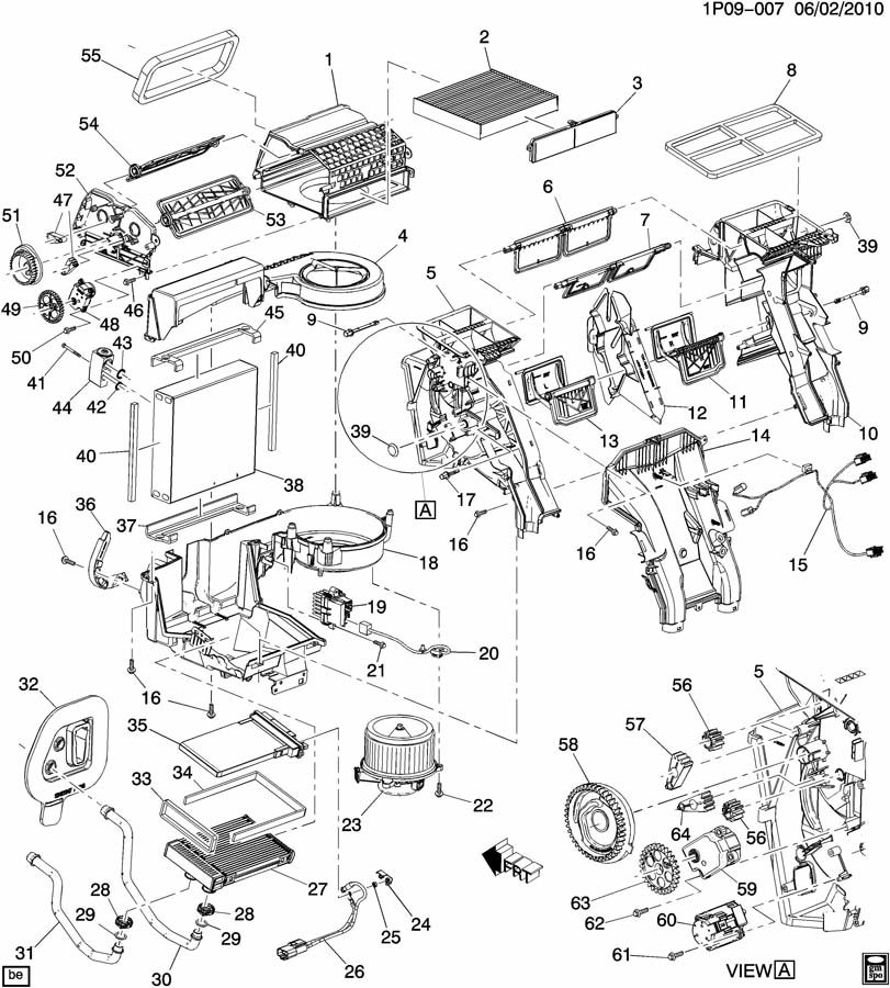 13263335  c  control  air distributor  lever  air inl