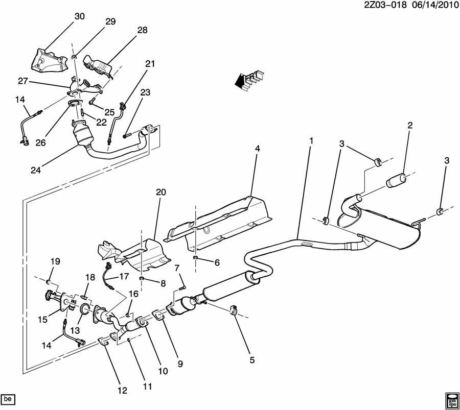 pontiac g6 muffler  exhaust  muffler  exh  w  exh  u0026 tail pipe  u0026 3 way ctltc conv