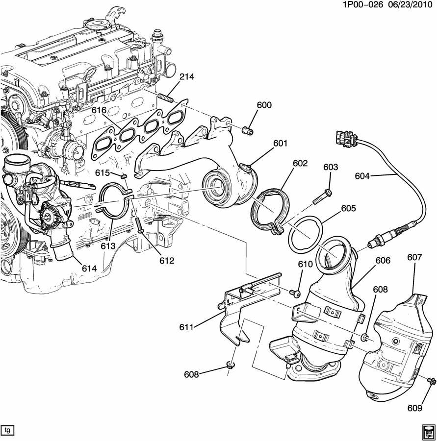 2012 chevrolet cruze engine diagram are nuts holding on turbo really one-time use? - page 2 chevrolet cruze wiring diagram