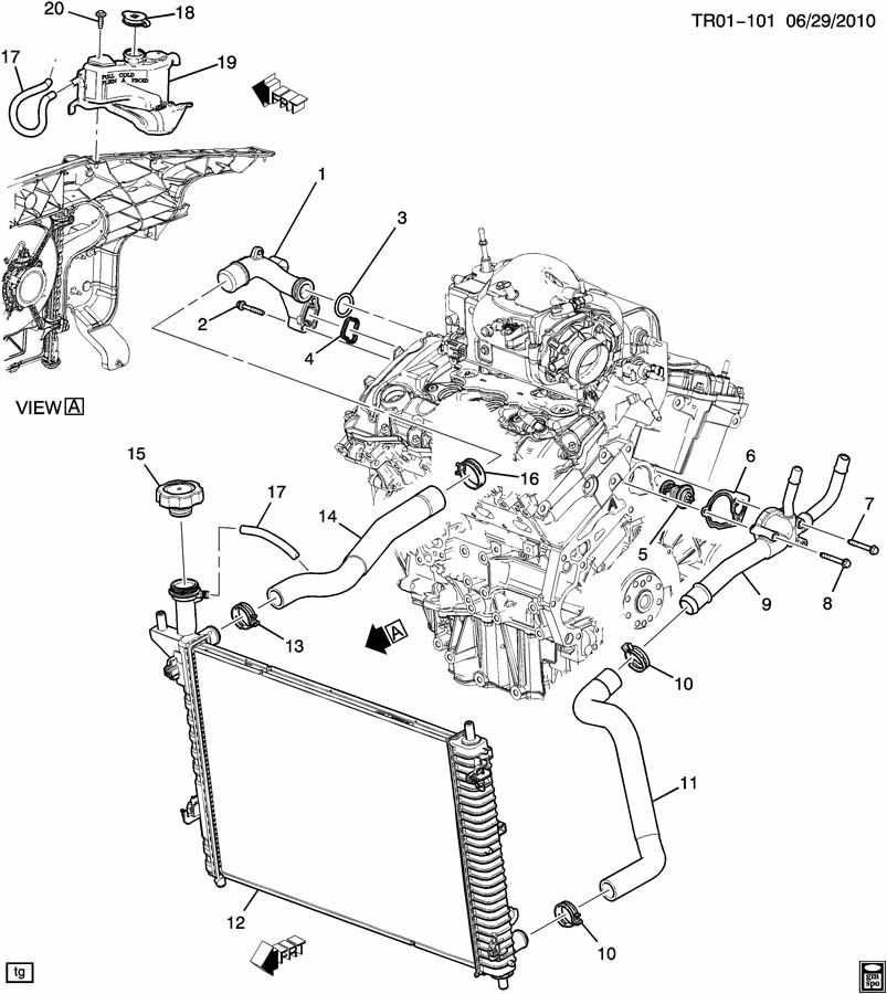 chevy traverse engine diagram 2008 gmc acadia 3 6