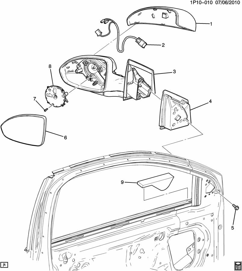 Chevrolet Parts Diagrams 2011 Cruise Mirror Chevrolet