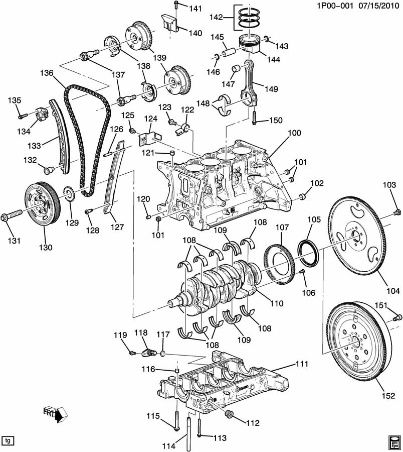 chevrolet cruze pl engine asm 1 4