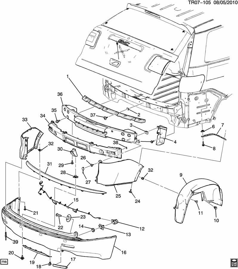 Gmc Acadia Liner  Fuel Door  U0026 Body Side  Liner  Rr W  H