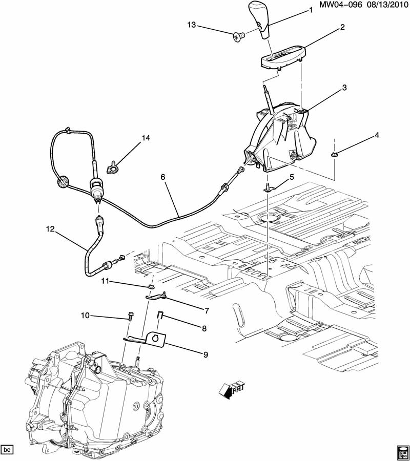 Chevrolet Monte Carlo Cable  Transmission Shift Control
