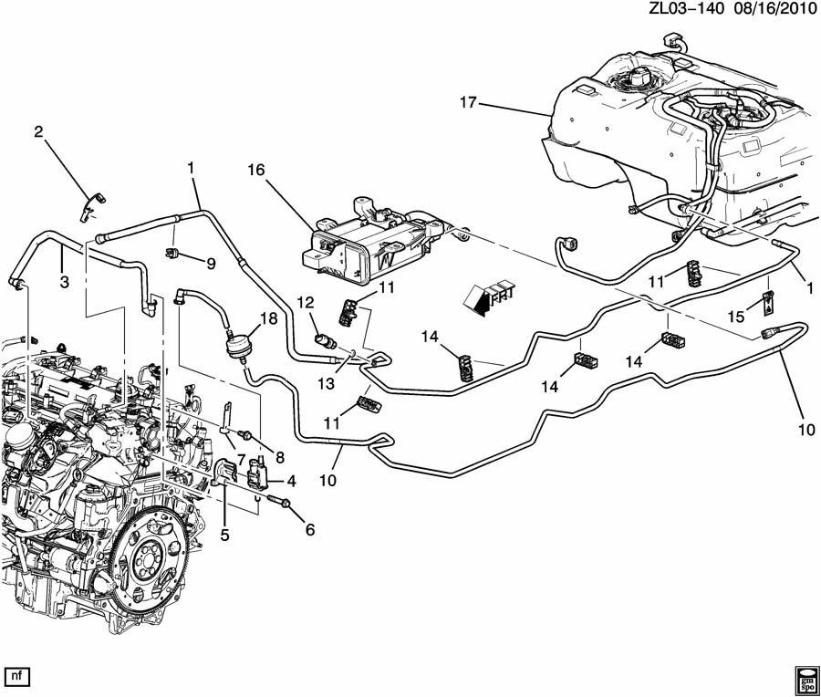 Chevrolet Silverado Fuel Line  Clip  Retainer