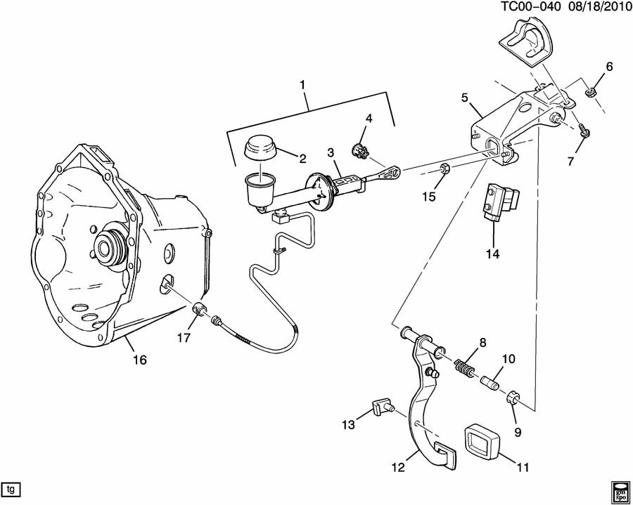 Chevrolet Clutch Slave Cylinder Diagram Com