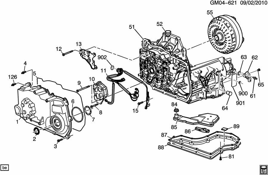 chevrolet captiva bolt  transmission case  transmission main control valve body