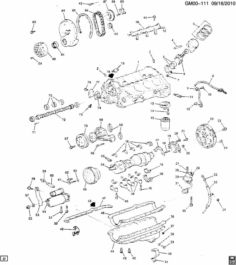 Gm on L98 Engine Parts Diagram