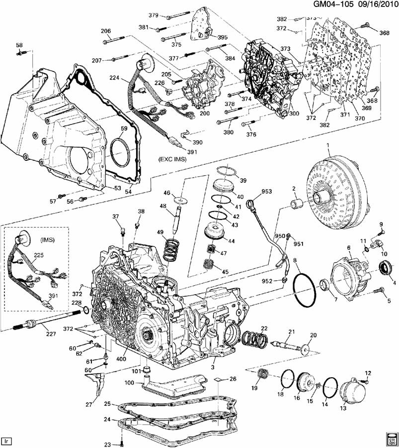 Diagram AUTOMATIC TRANSMISSION for your 2001 Oldsmobile Aurora 3.5L 4DR