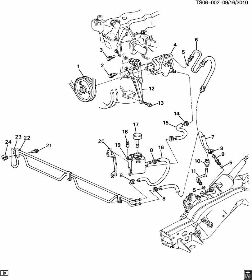 1988 gmc steering pump mounting  u0026 lines