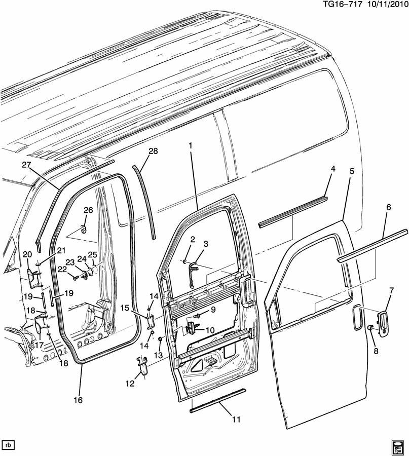 Chevrolet Express Door Seal  Front   1  2  3  4  U0026 1 Ton