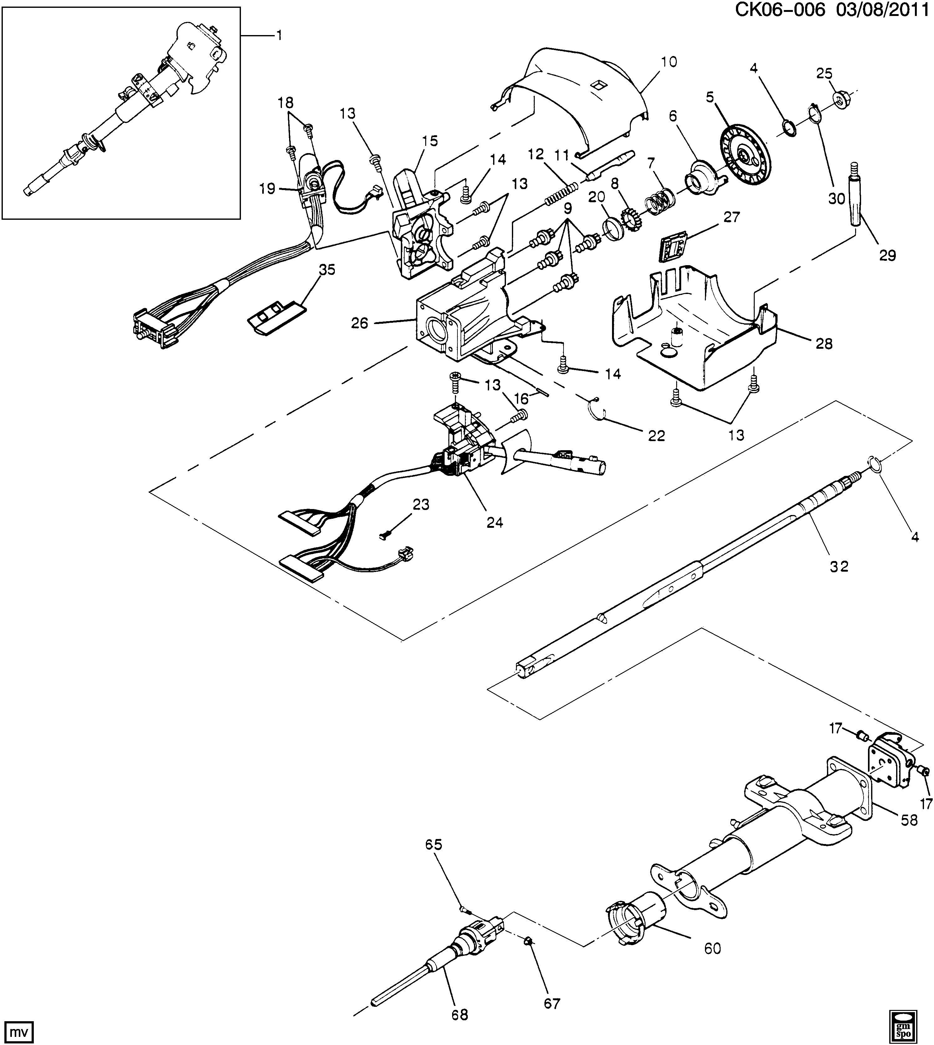 chevrolet k1500 bearing  steering column  bearing  strg shf lwr  bearingstrg