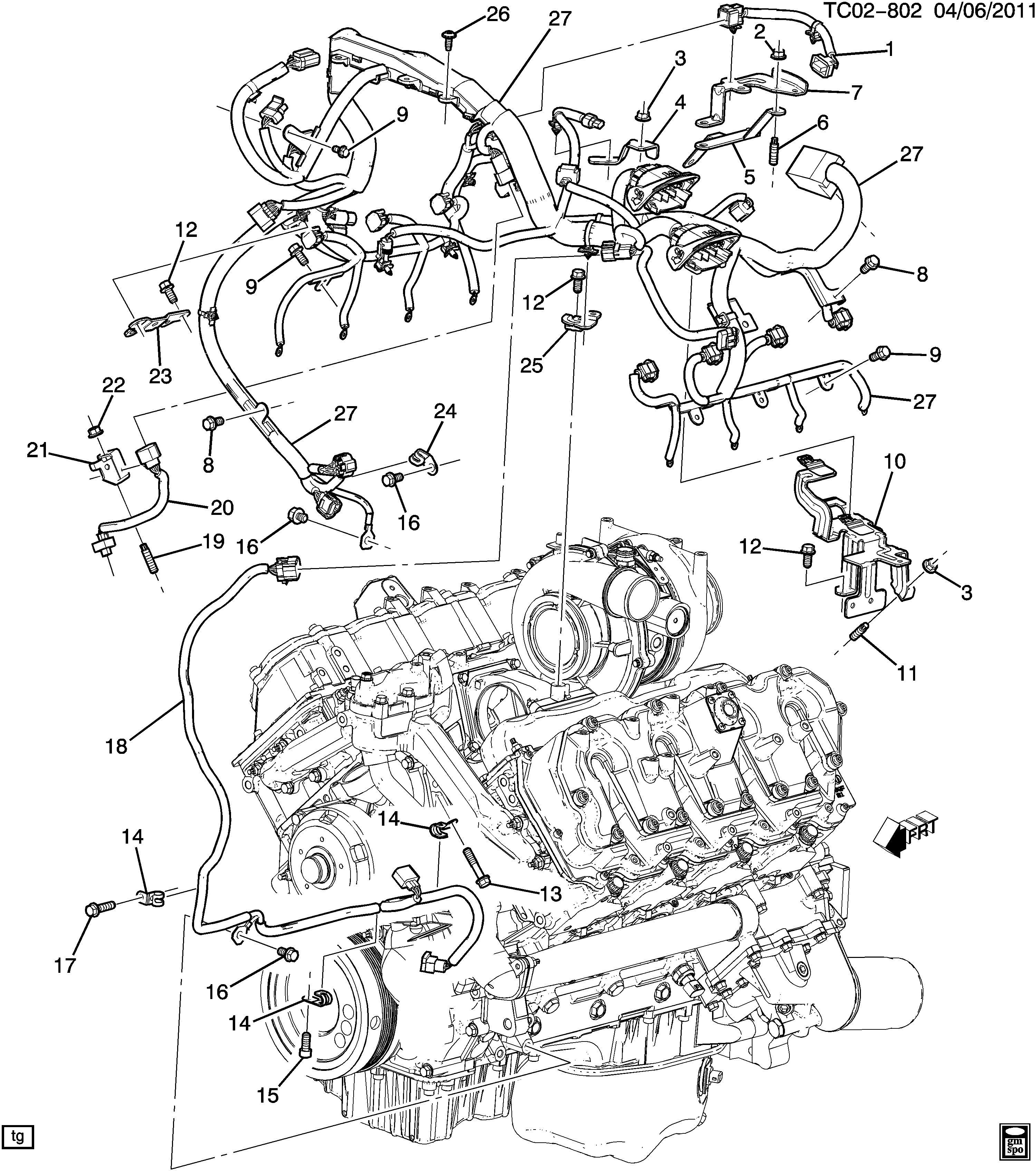 12629647 - GM Harness. Engine wiring. Wrgeng, conjuction ...