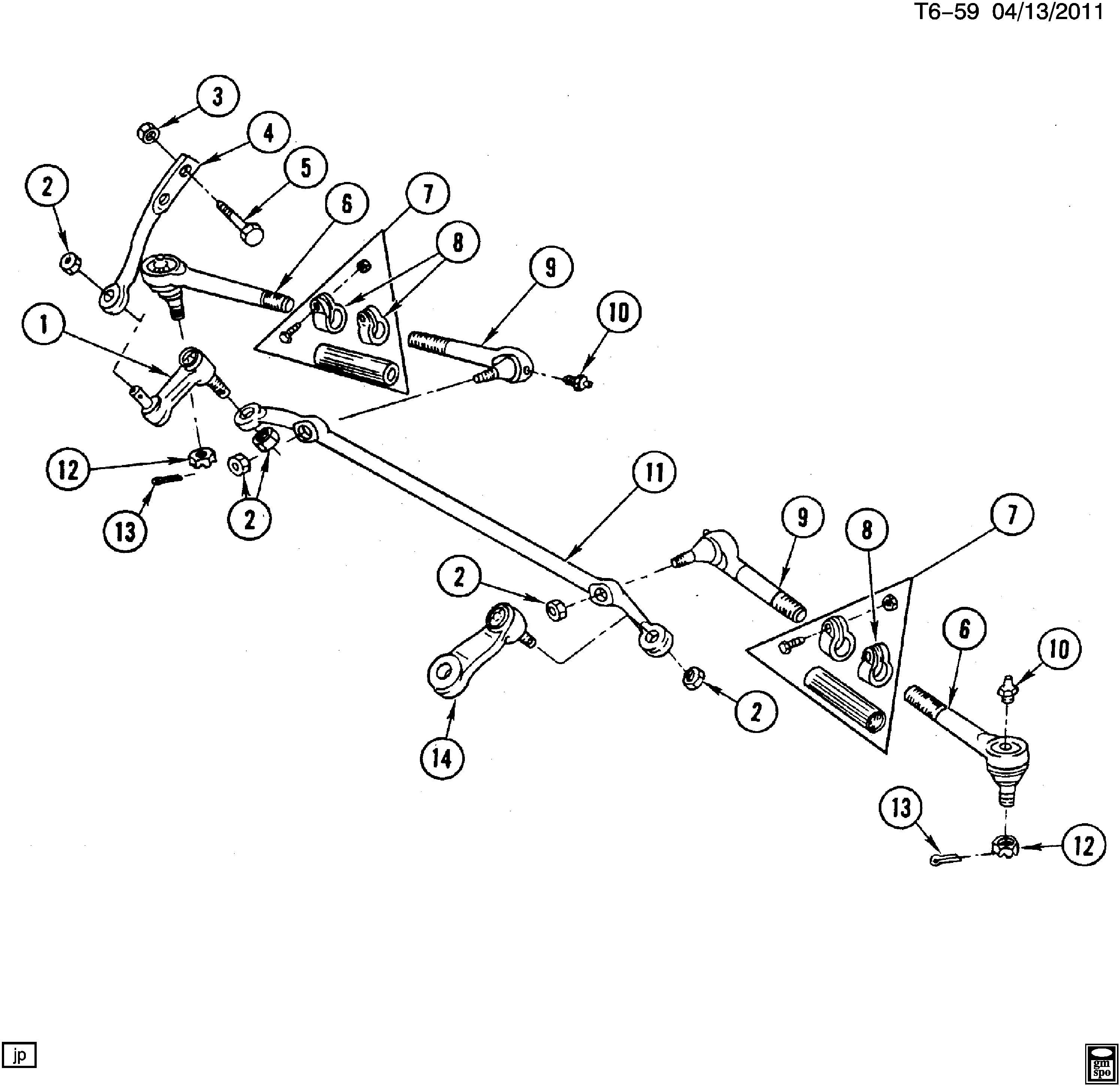 12541419 - Chevrolet Steering Connecting. ROD KIT. ROD ...