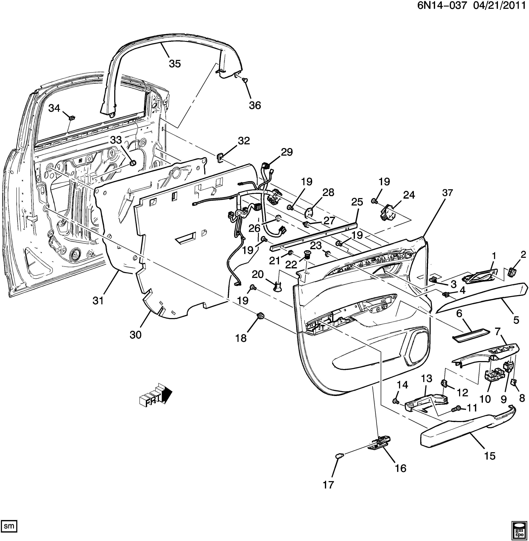 2012 Cadillac Srx Harness  Body Wiring  Harness  Frt S  D