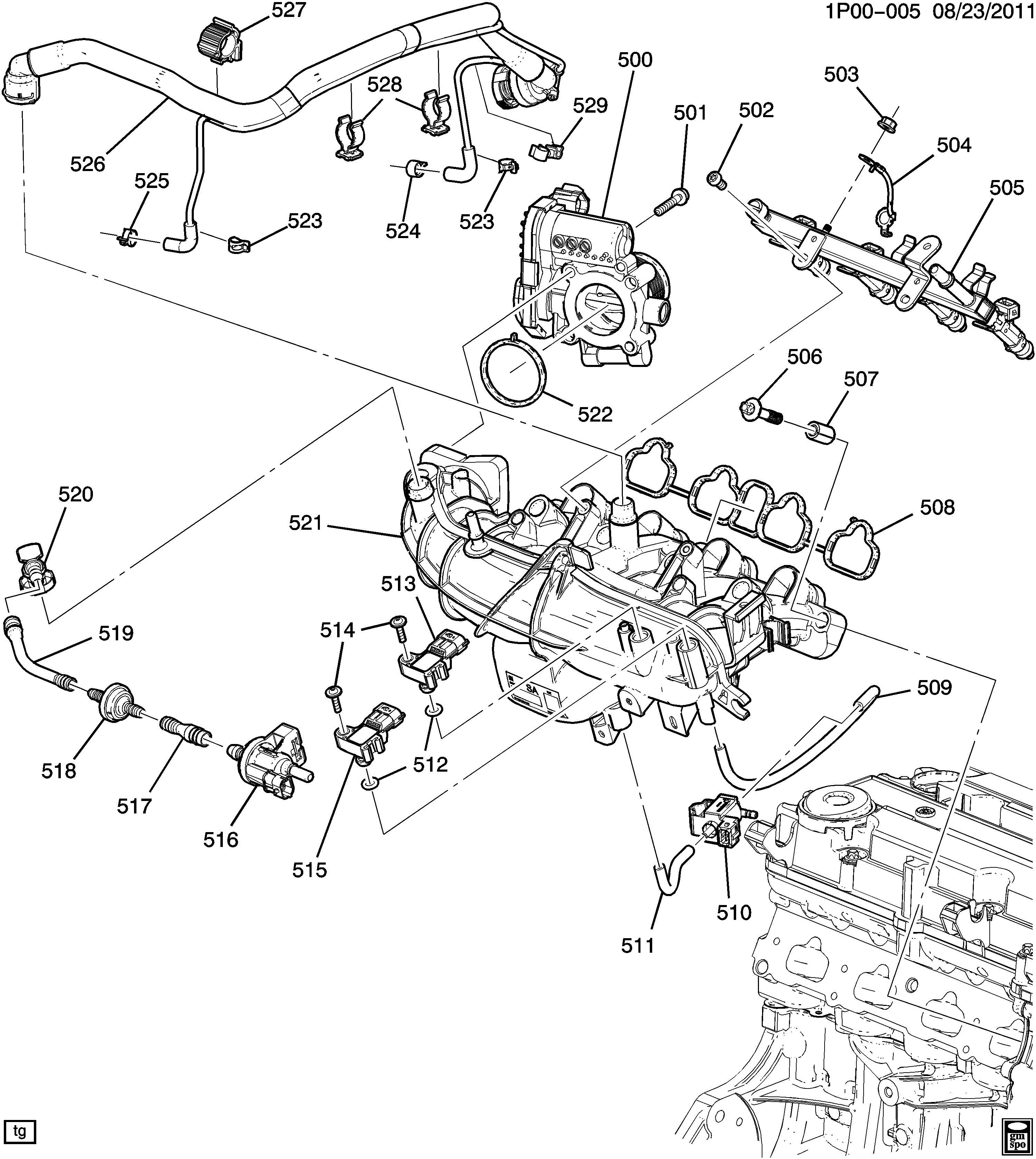 2013 Chevy Cruze Engine Parts Diagram Manual Guide
