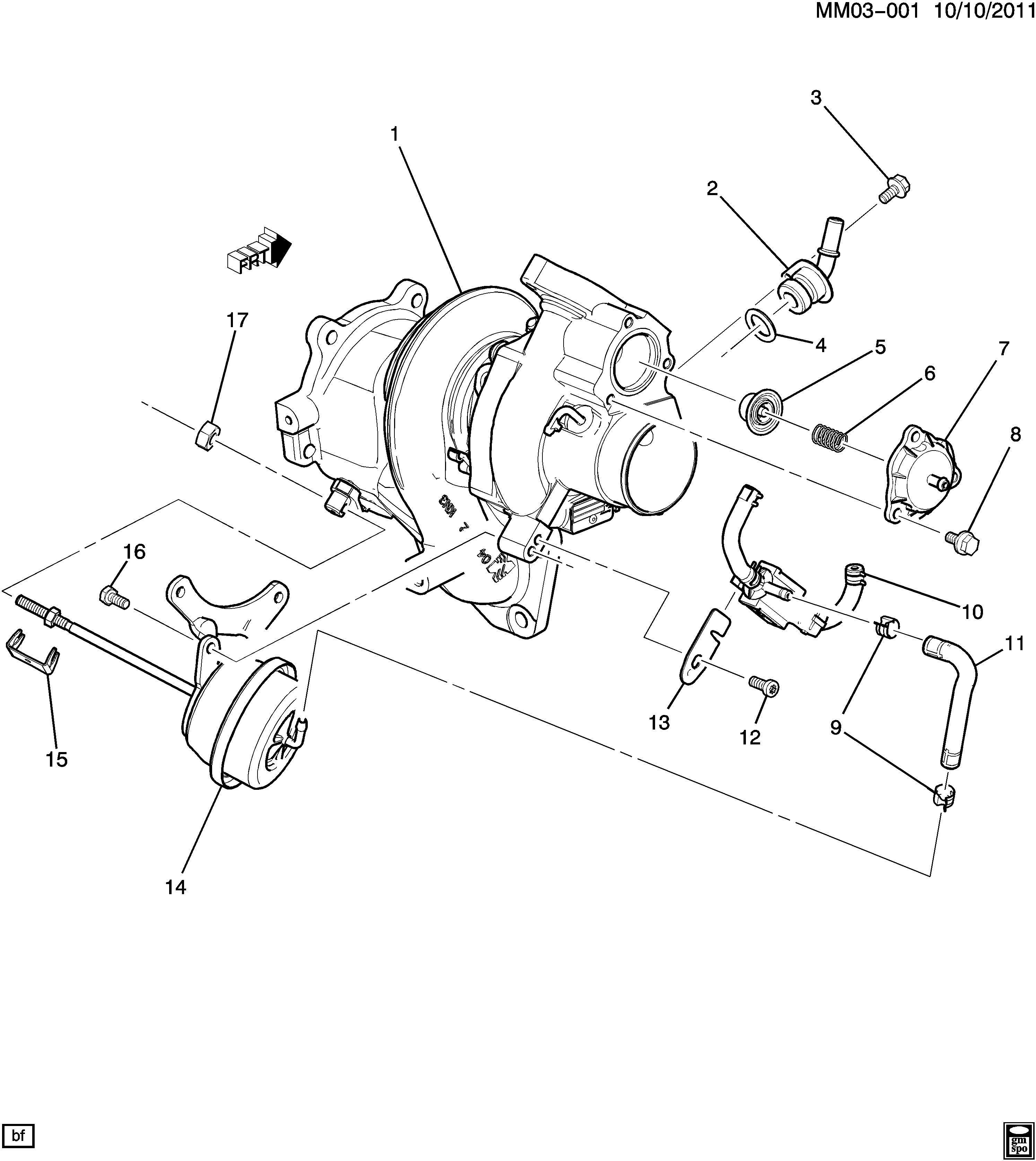 2007 Pontiac Solstice Actuator Kit  Turbocharger