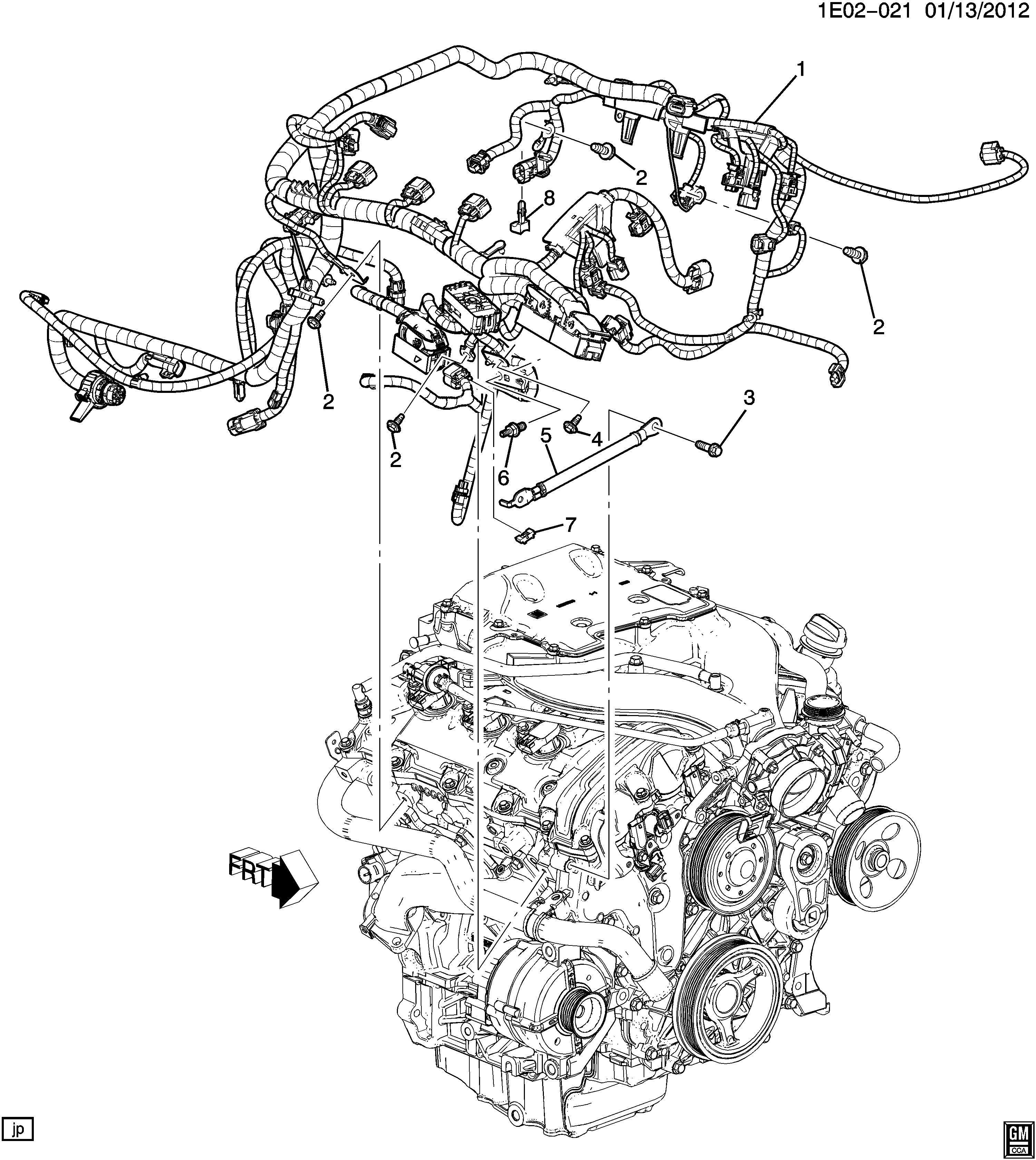 2010 Chevrolet Camaro Engine Wiring Harness  3 6 Liter  Auto Trans  Transmyb