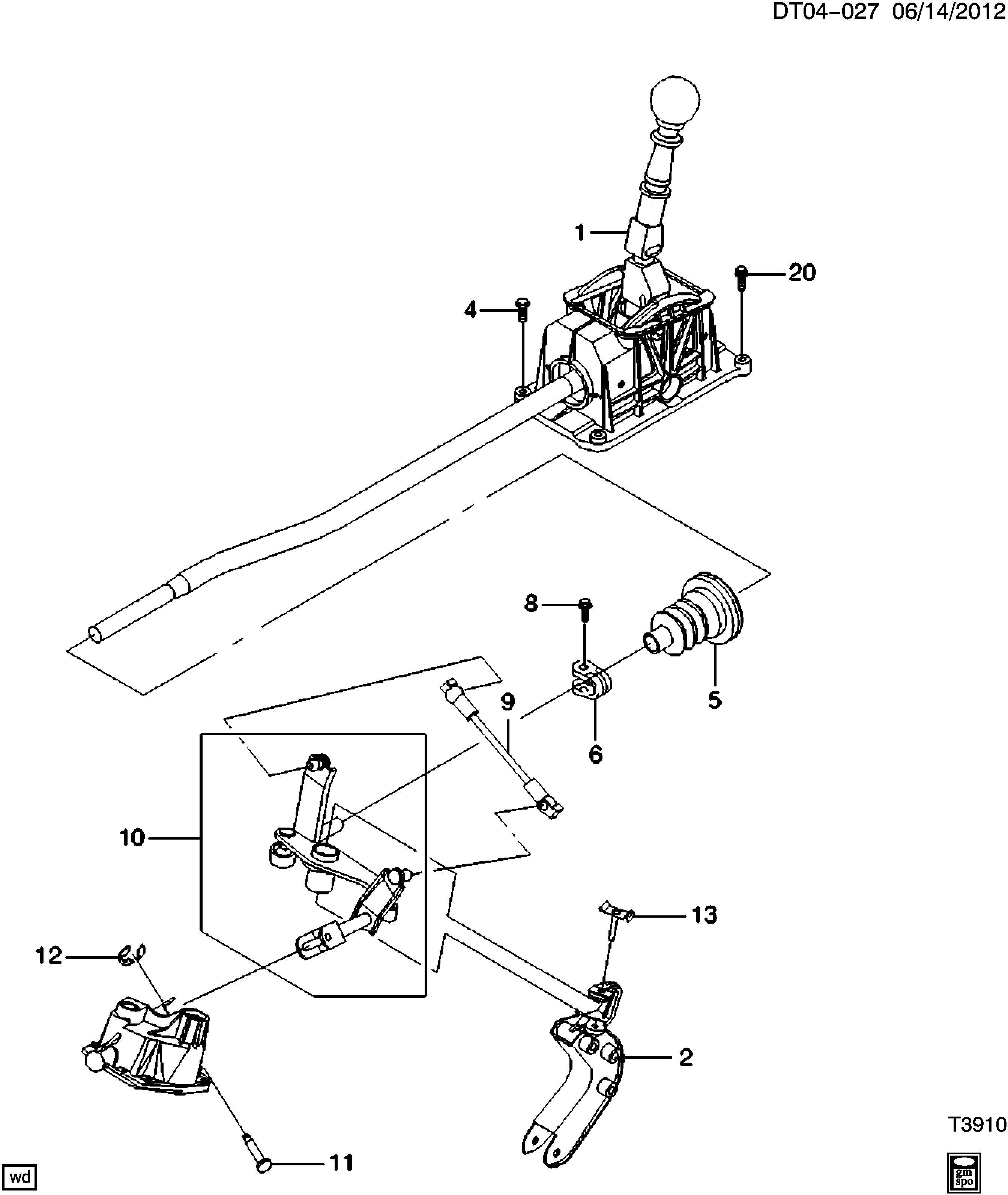 Chevrolet Aveo Lever  Transmission Shift Shaft Lever Rod  Rod  Transmission Shift Shaft