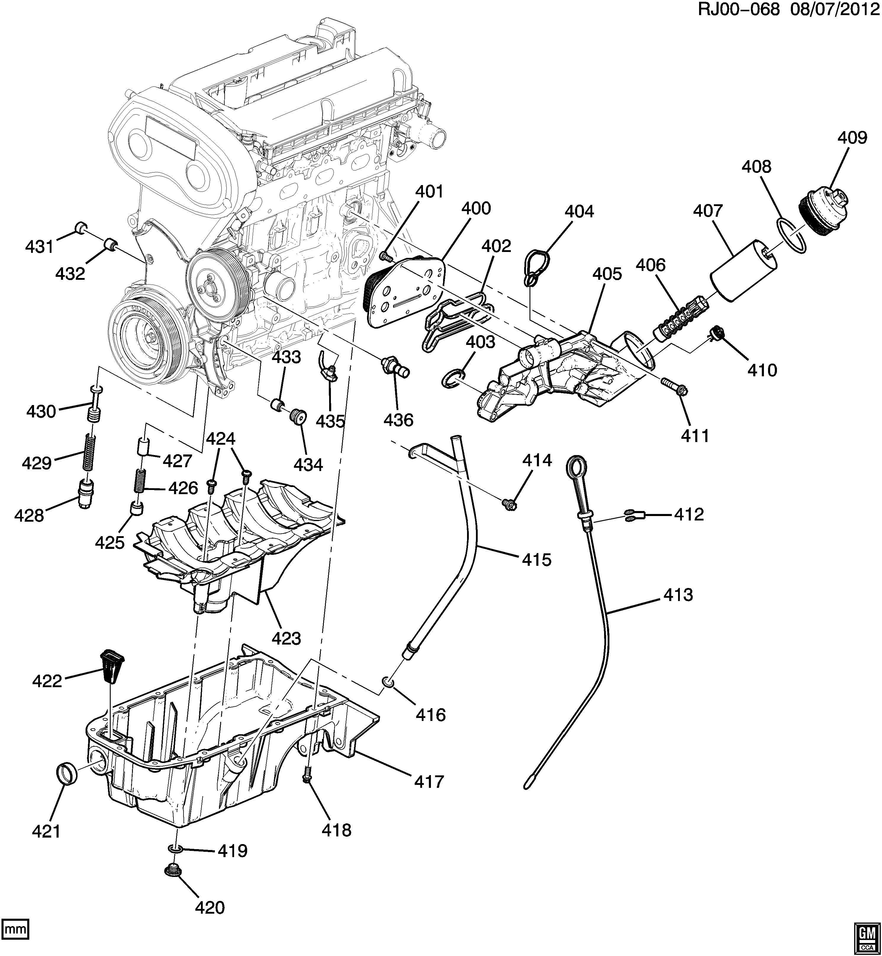 Chevrolet Cruze Ltz Eco Bolt  Engine Oil Cooler  Bolt  Eng