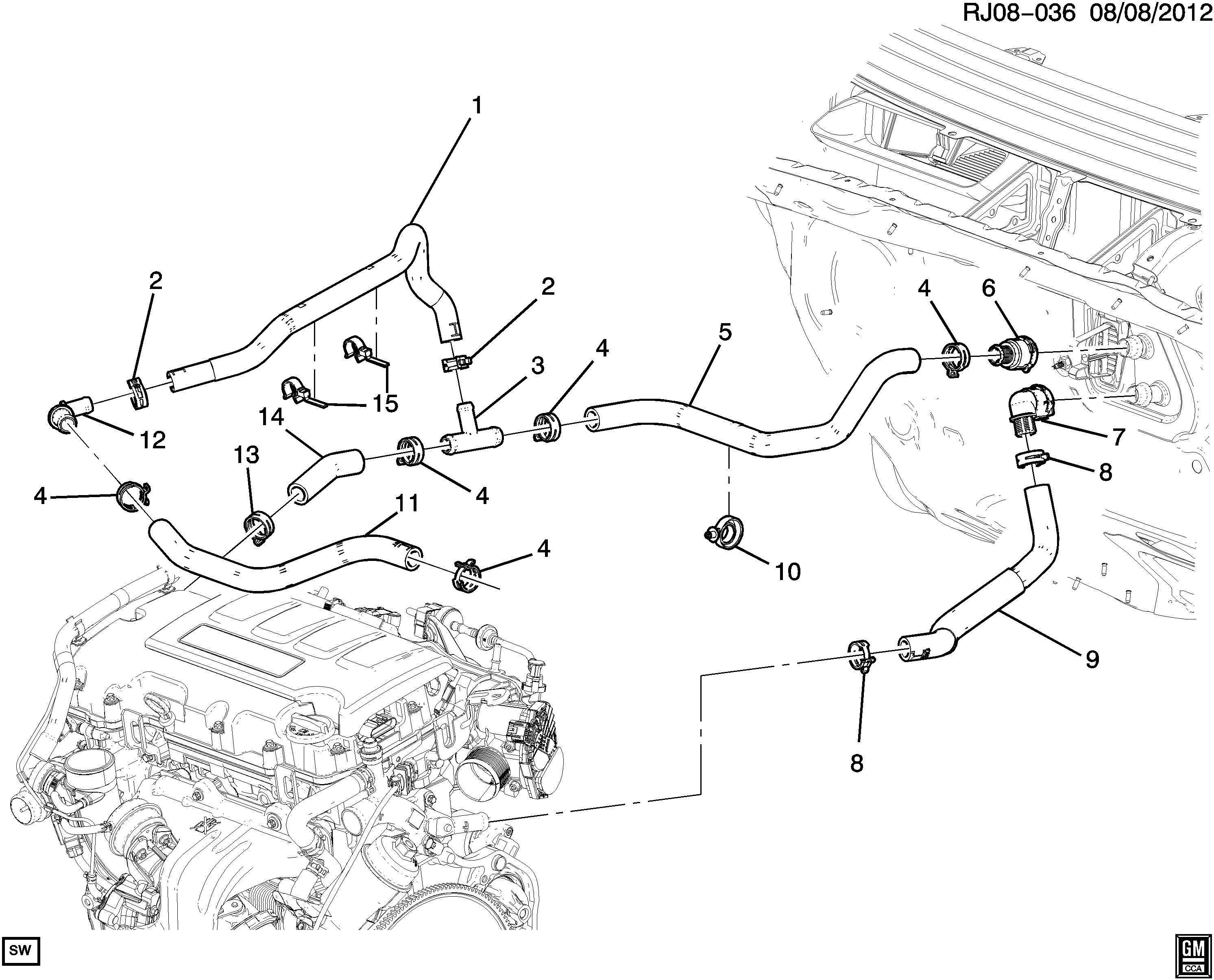 2013 Chevy Sonic Coolant Hose Diagram