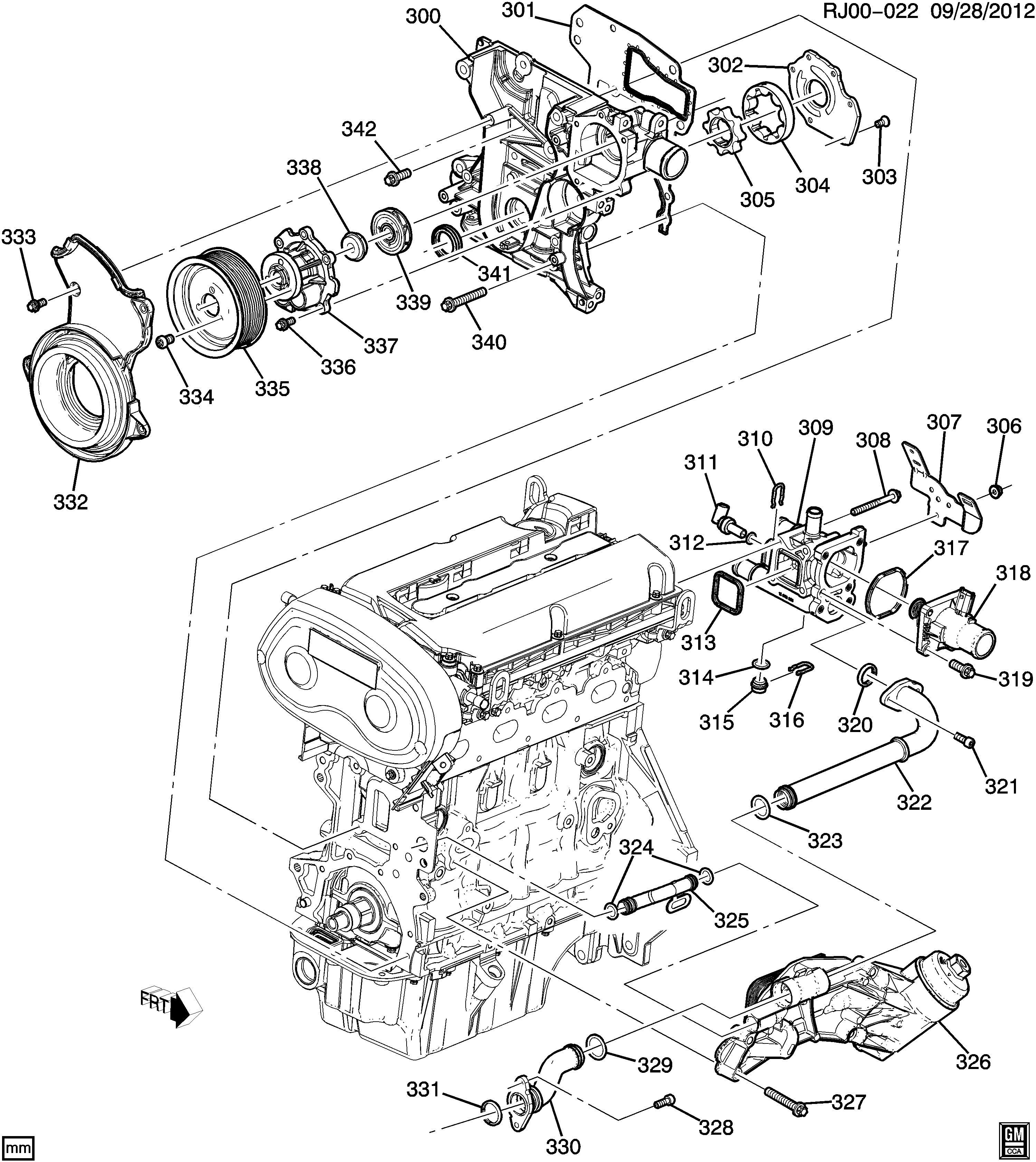 Chevrolet Sonic Seal  Engine Coolant By