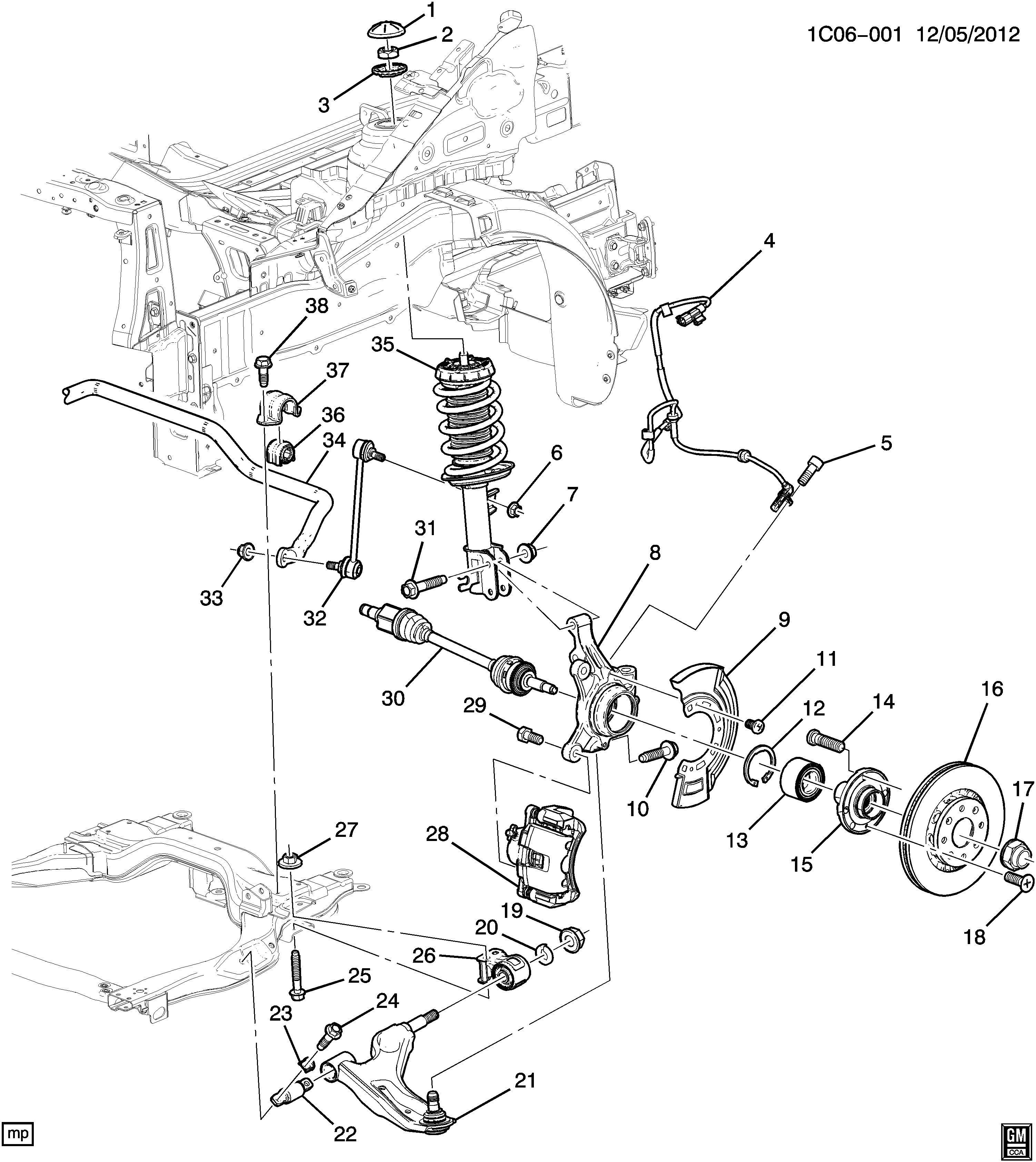 Chevrolet Spark Nut  Front Wheel Drive Axle Shaft  Pack Of
