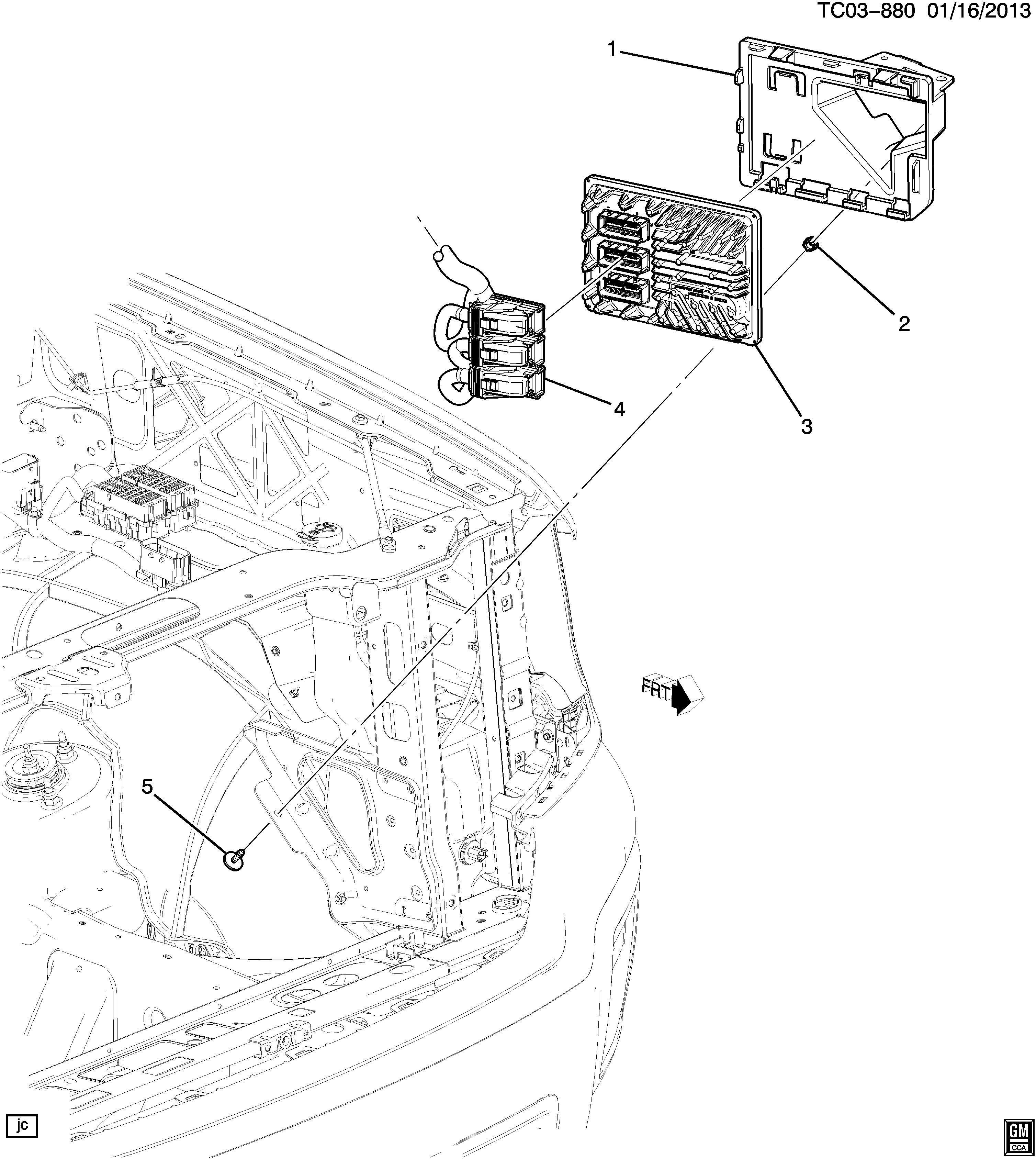 Chevrolet Silverado Module  Emission Control System