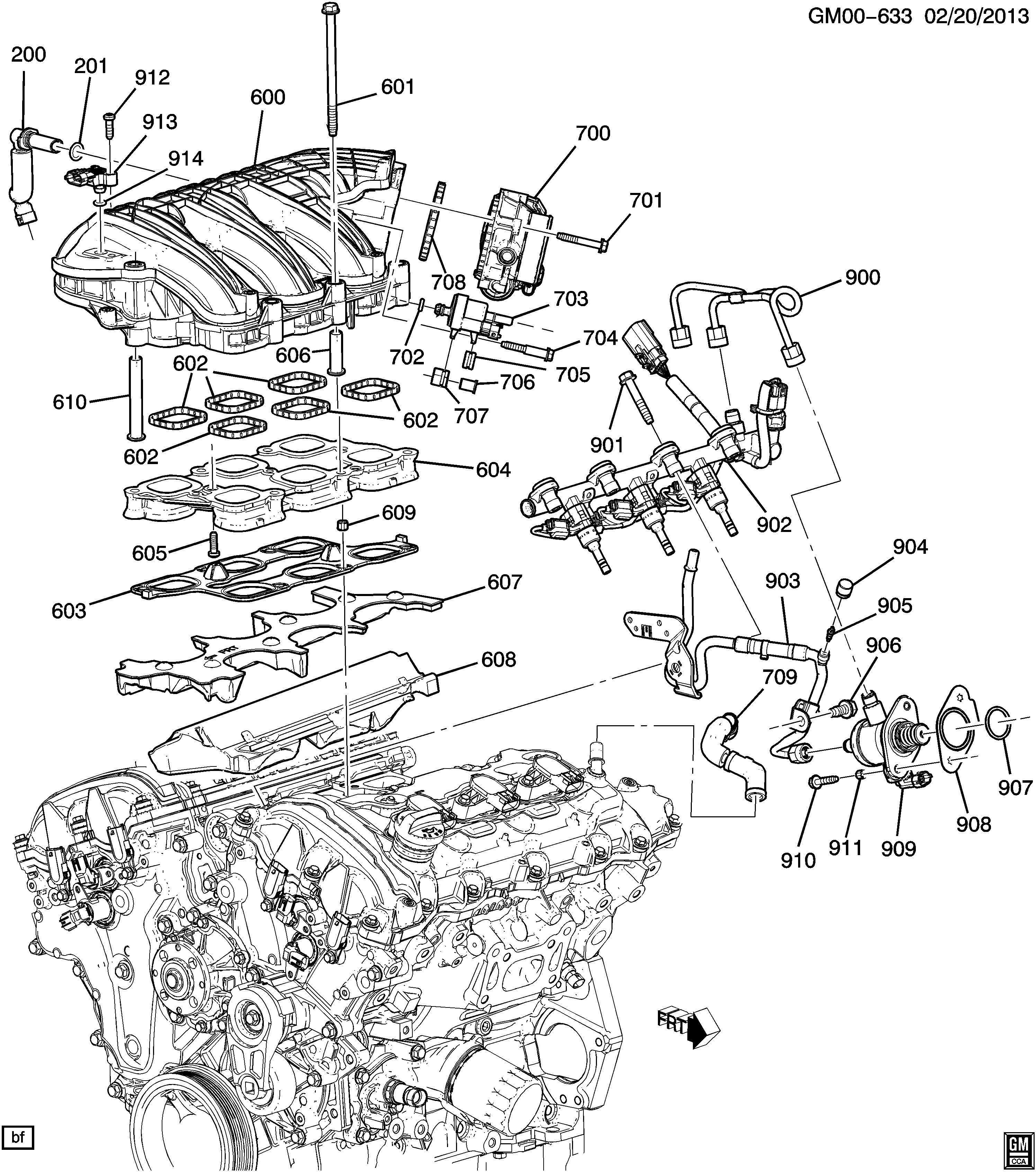 Chevrolet Impala Tube  Engine Crankcase Ventilation  Tube