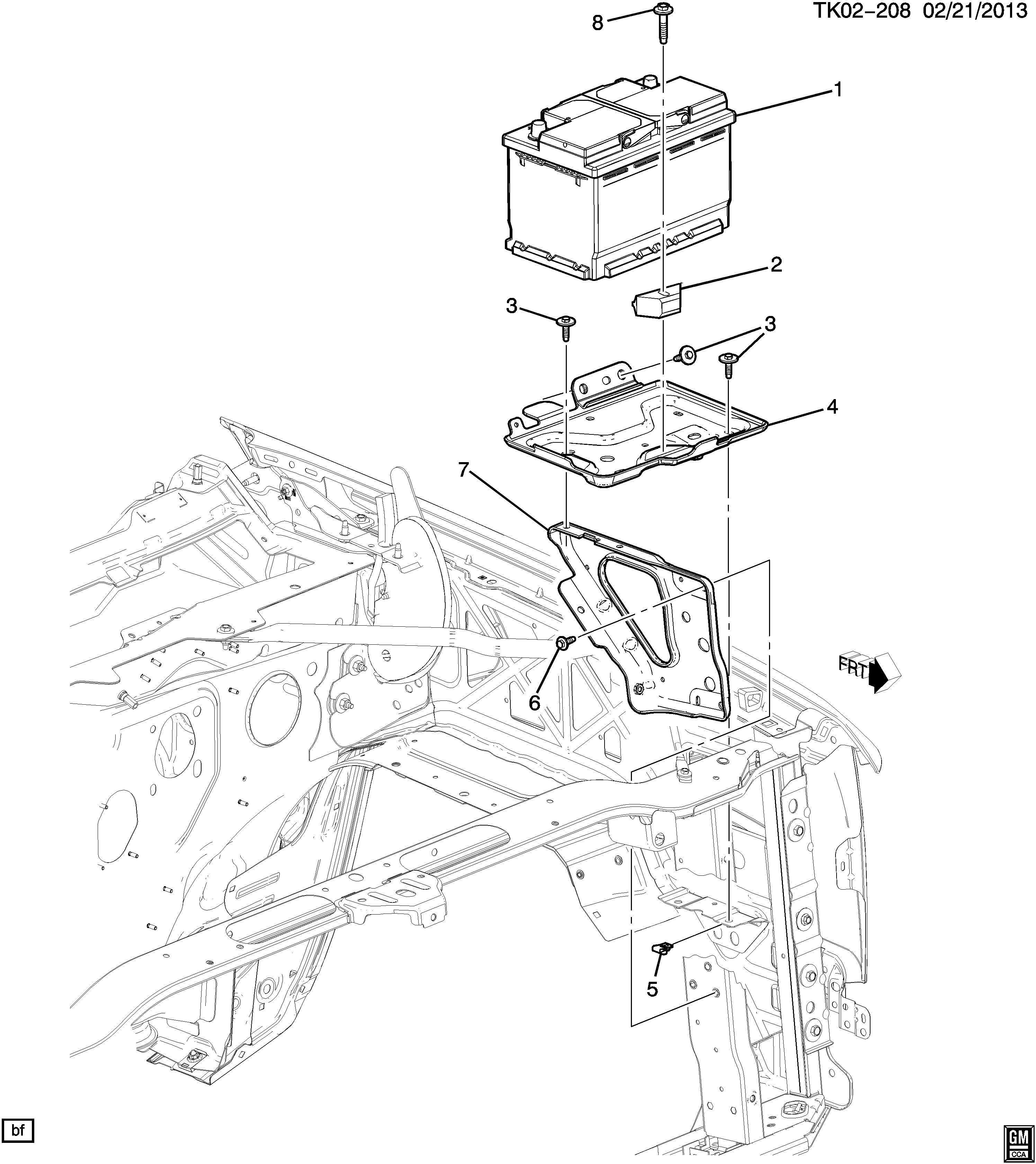 22989633 - chevrolet tray  battery  tray  body bat