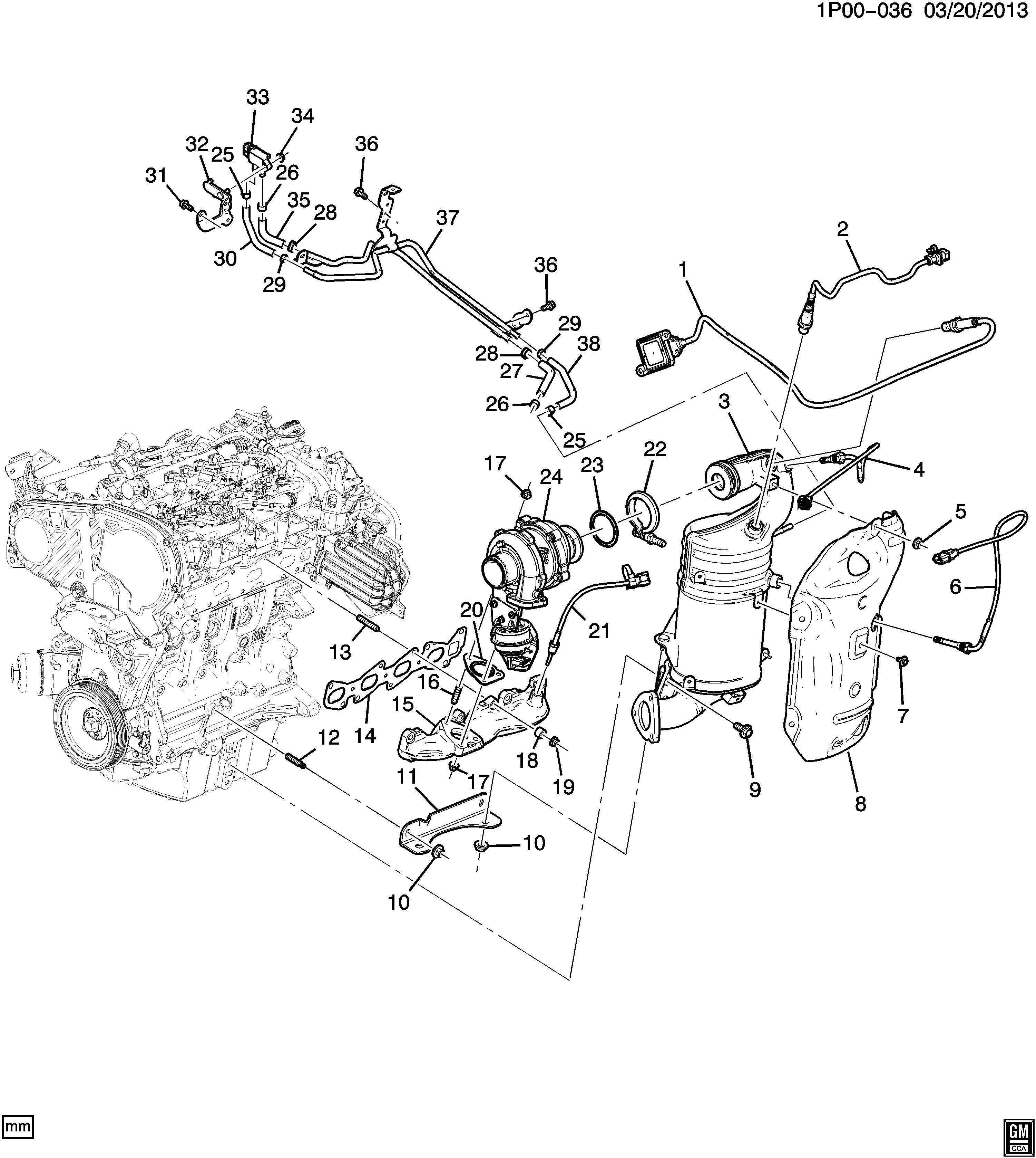 Chevrolet Cruze Catalytic Converter. Catalytic cnvrtr ...