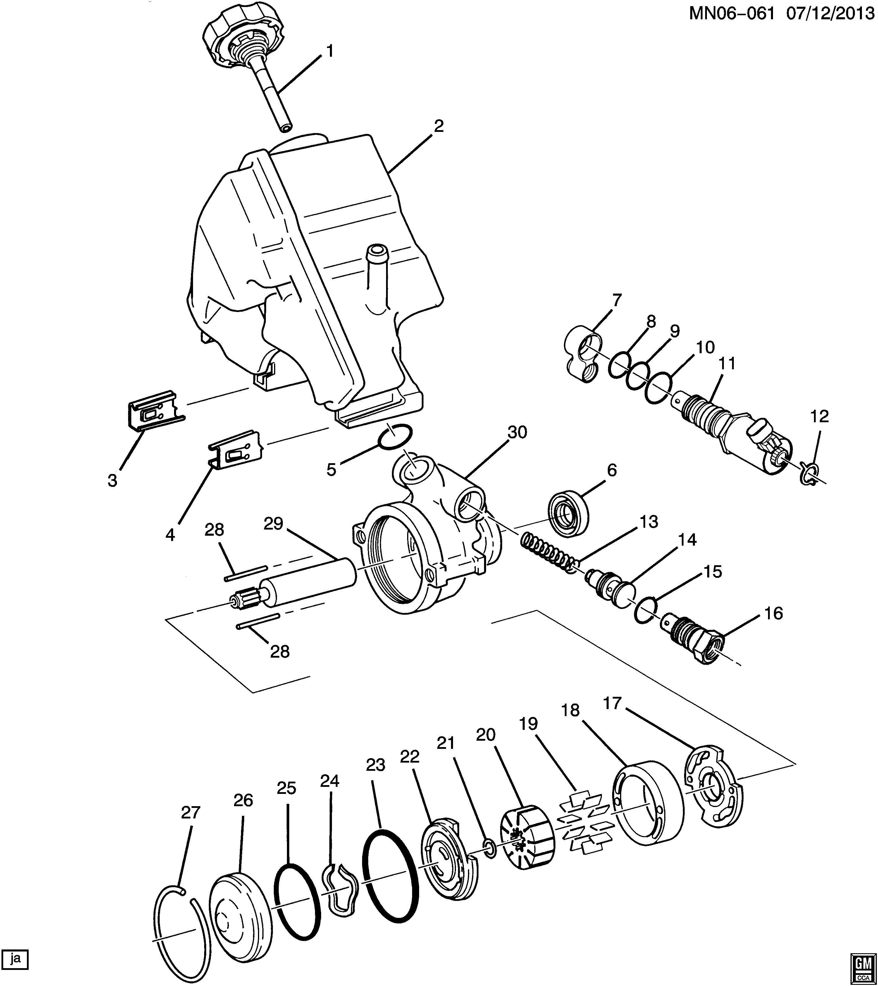 2000 Oldsmobile Alero Actuator  Steering Pump Control