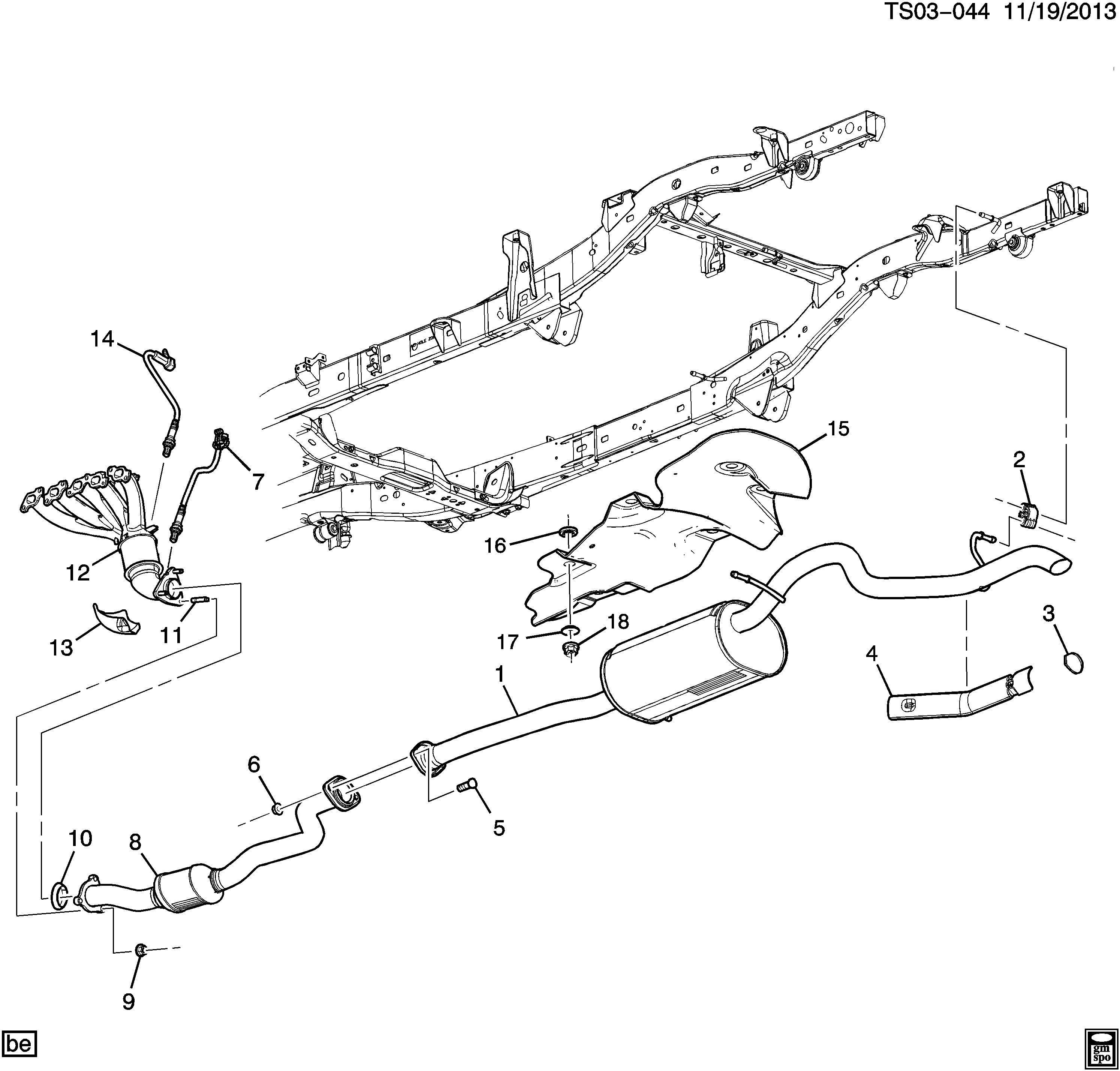 12655846 gm manifold catalytic converter engine. Black Bedroom Furniture Sets. Home Design Ideas