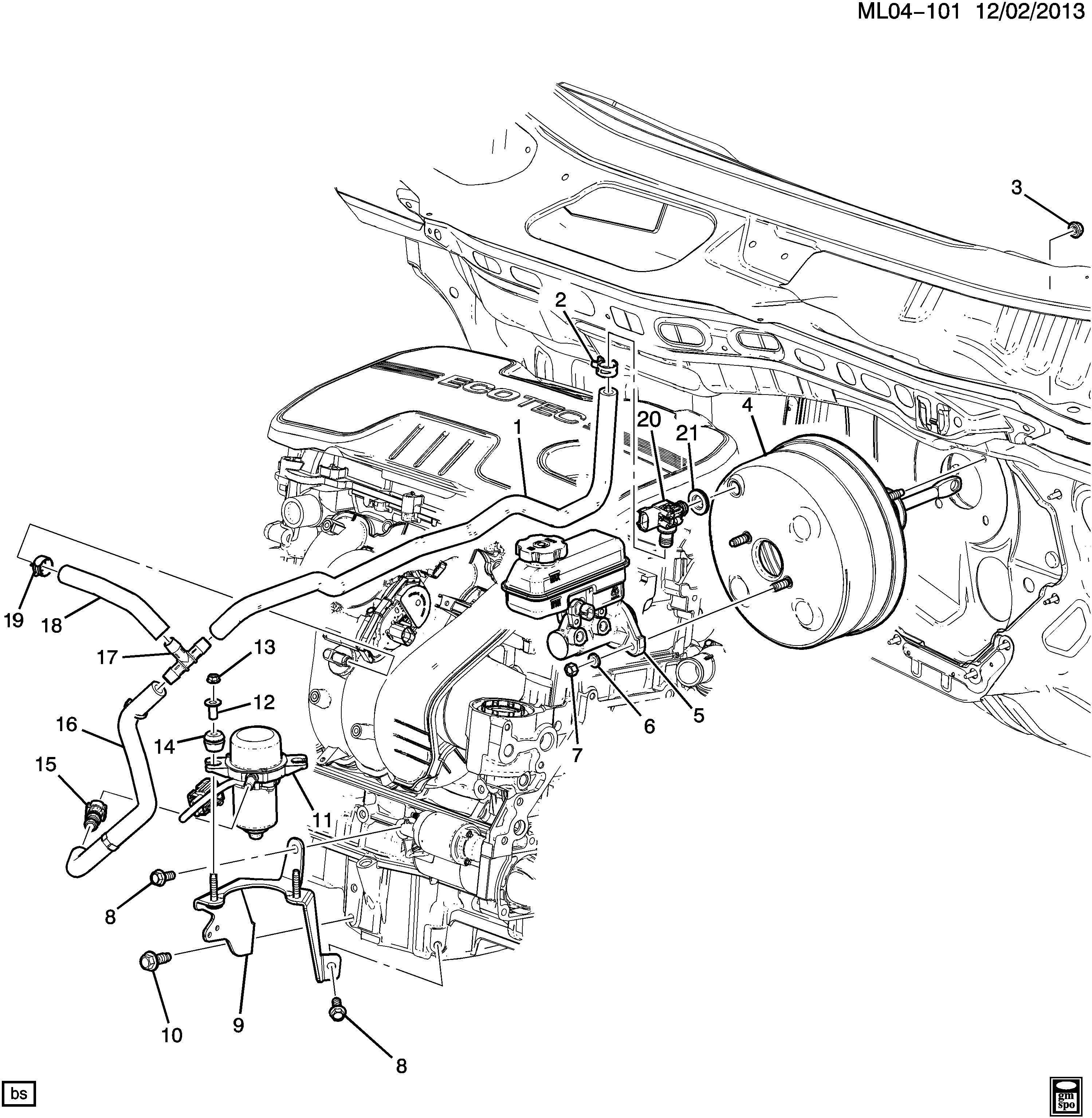 Chevrolet Equinox Pump  Hydraulic Power Brake Booster  Vacuum Power Brake Pump