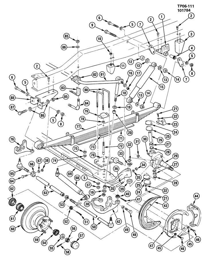 Chevy P30 Rear Suspension