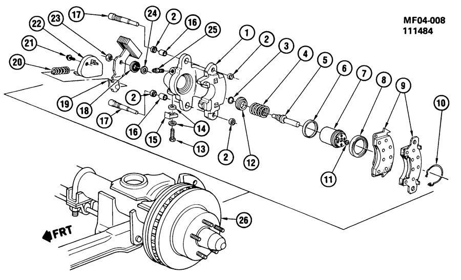 brake caliper  rear