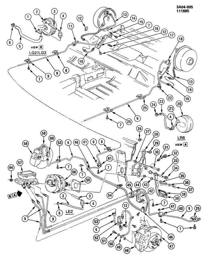 1988 cadillac allante brake system  hydraulic
